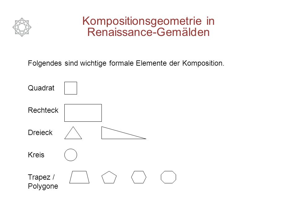 Folgendes sind wichtige formale Elemente der Komposition.