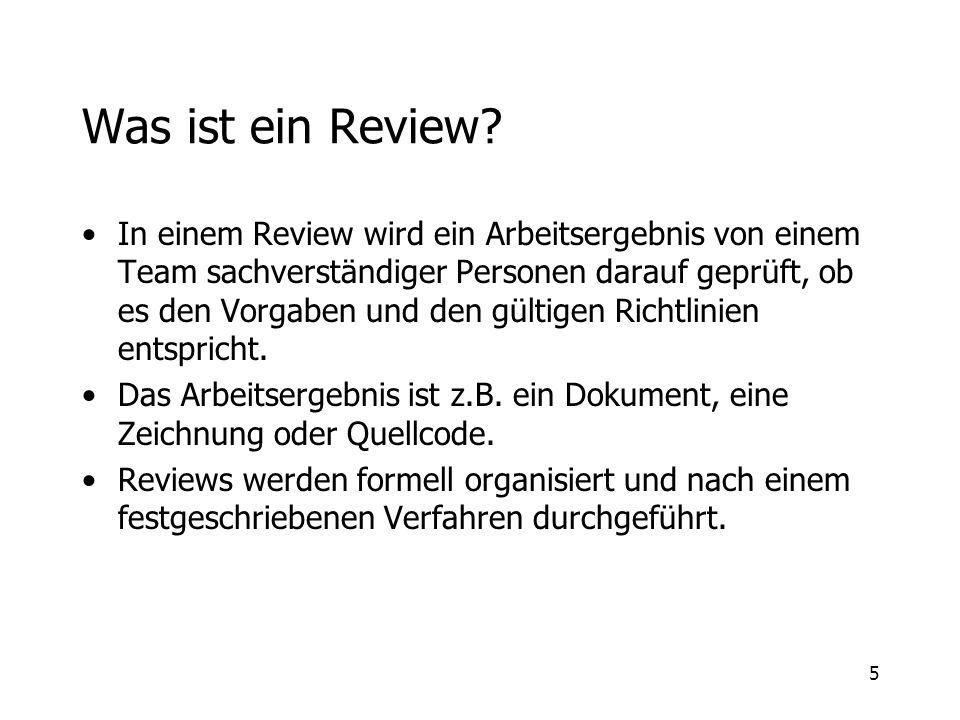 Was ist ein Review
