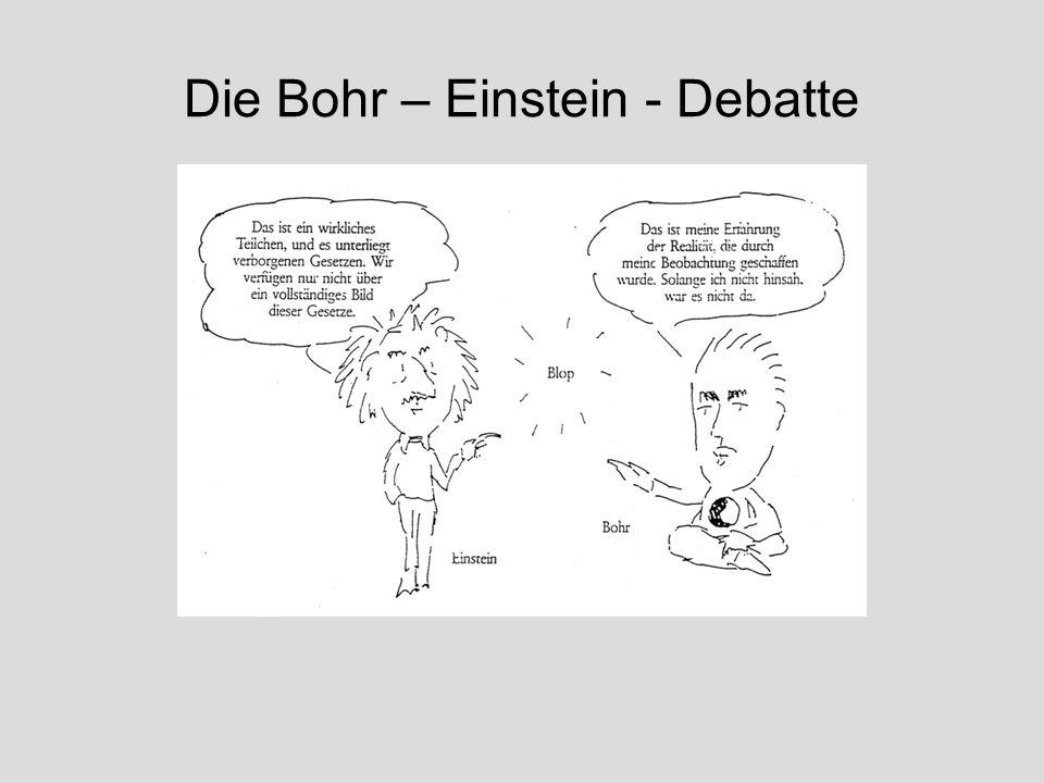 Die Bohr – Einstein - Debatte