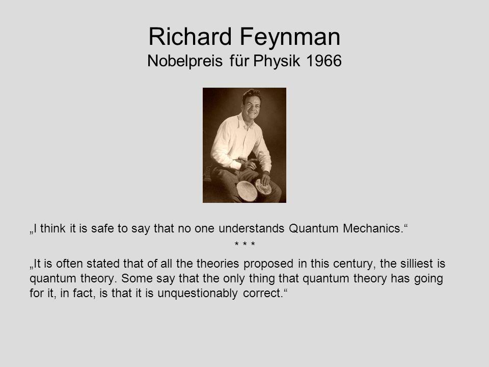 Richard Feynman Nobelpreis für Physik 1966