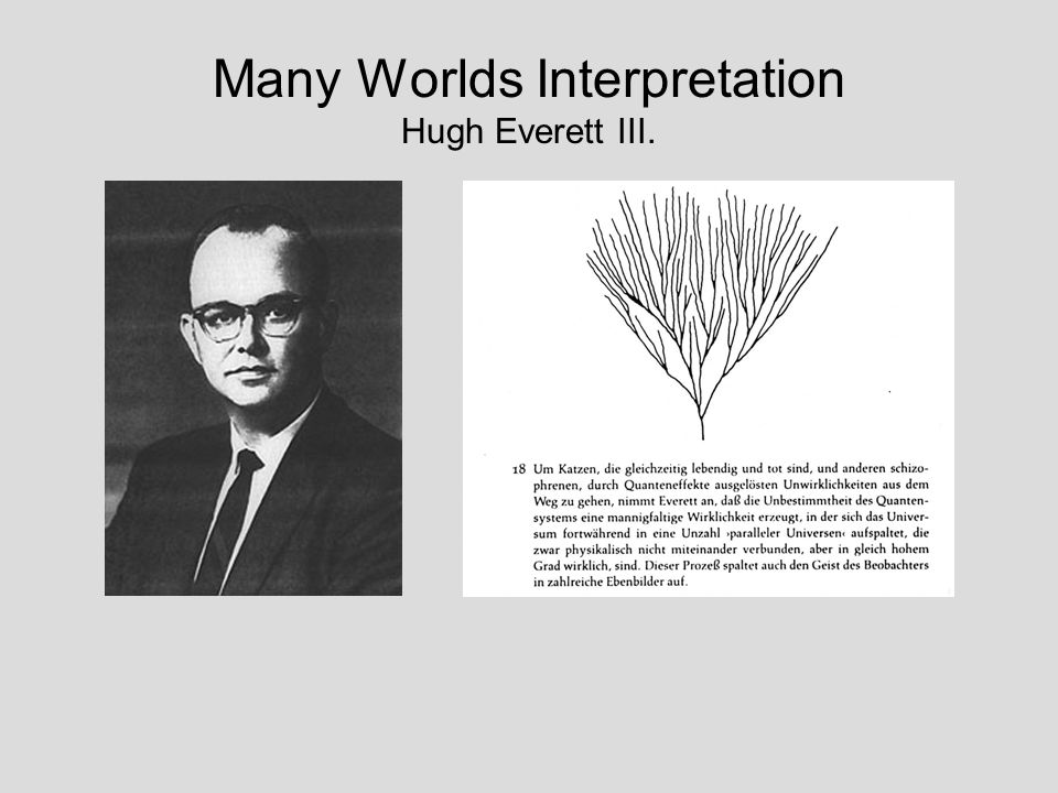 Many Worlds Interpretation Hugh Everett III.