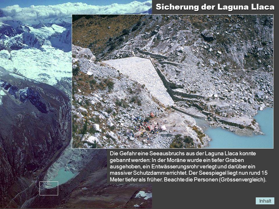 Sicherung der Laguna Llaca