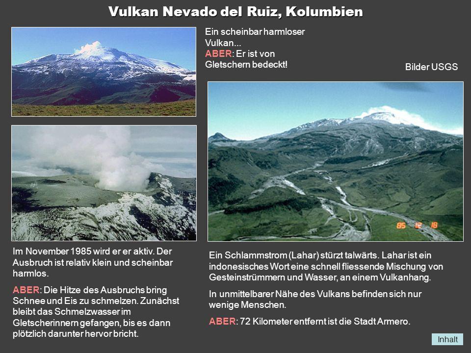 Vulkan Nevado del Ruiz, Kolumbien