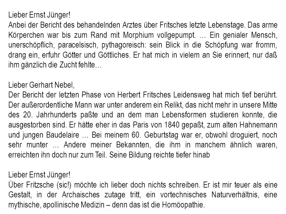 Lieber Ernst Jünger!