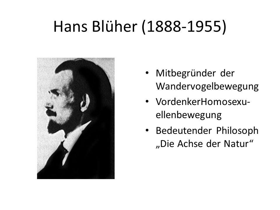Hans Blüher (1888-1955) Mitbegründer der Wandervogelbewegung