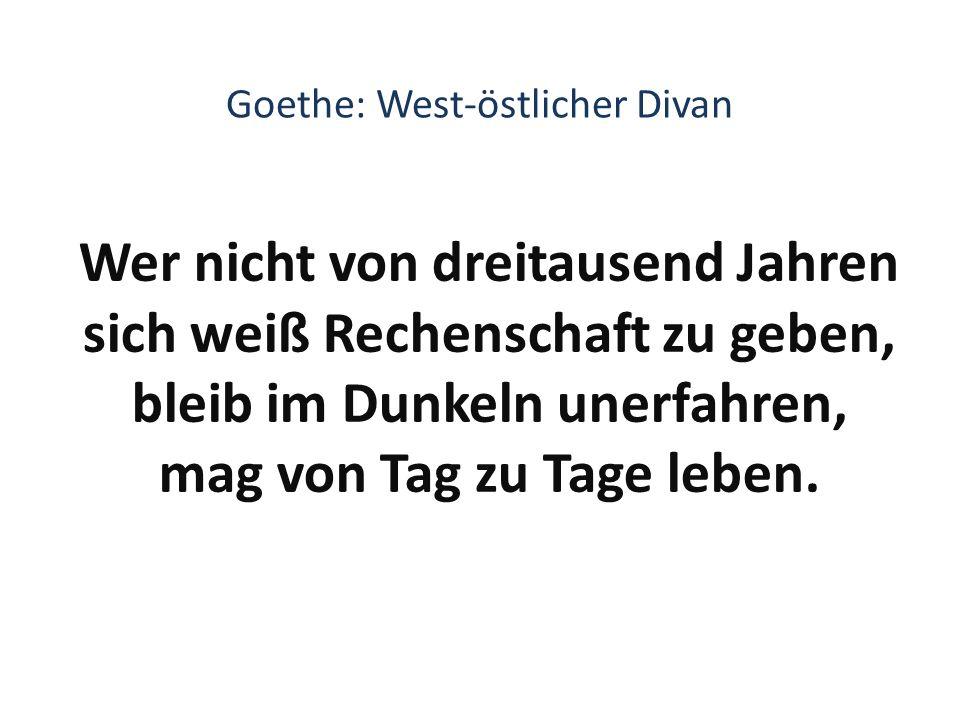 Goethe: West-östlicher Divan