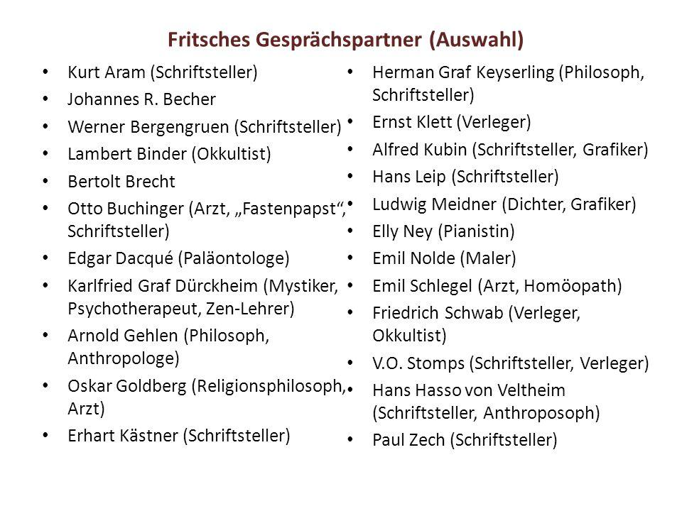 Fritsches Gesprächspartner (Auswahl)