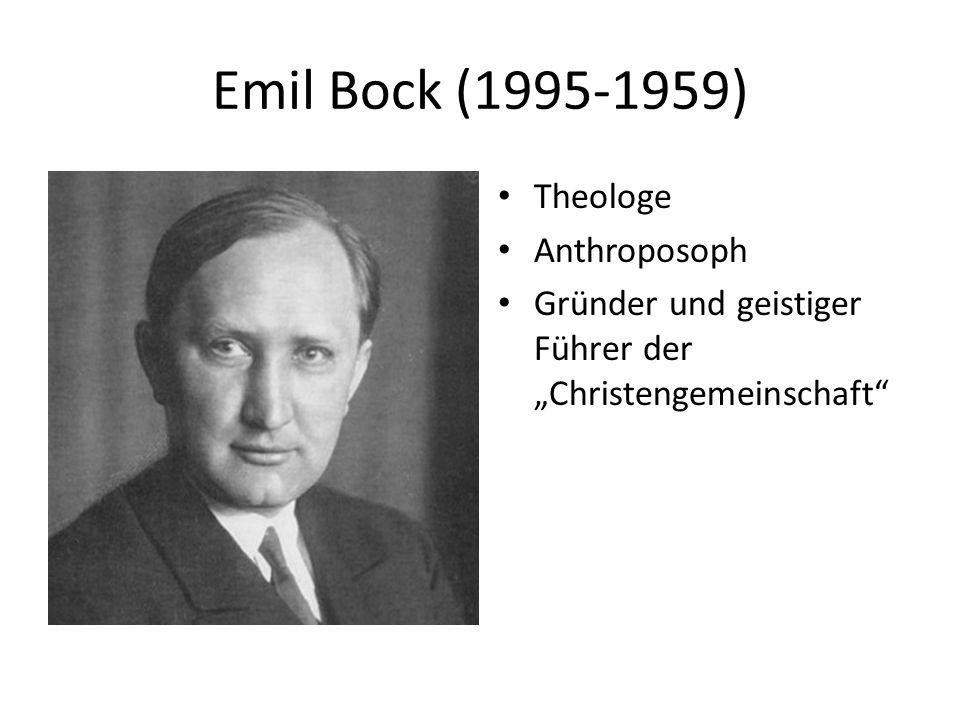 Emil Bock (1995-1959) Theologe Anthroposoph