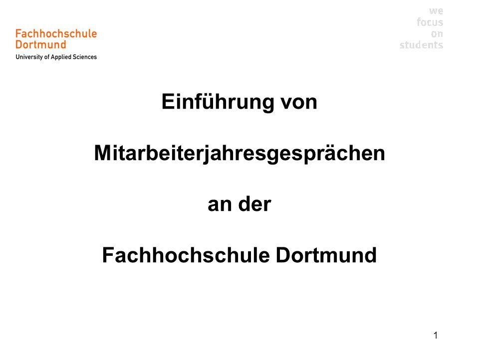 Einführung von Mitarbeiterjahresgesprächen an der Fachhochschule Dortmund