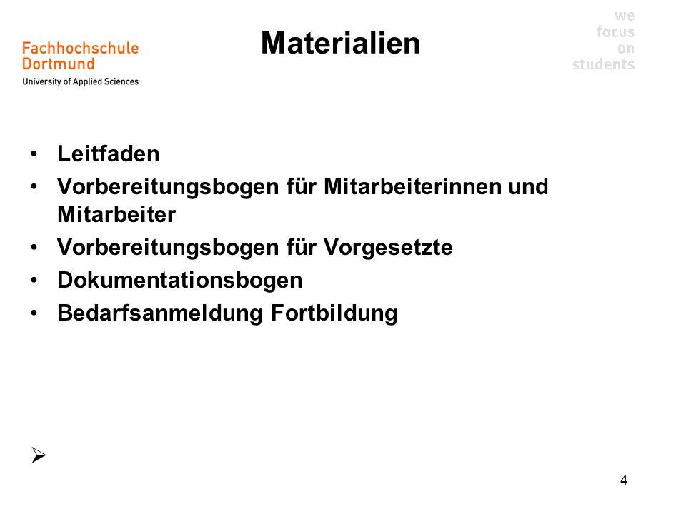 Materialien Leitfaden