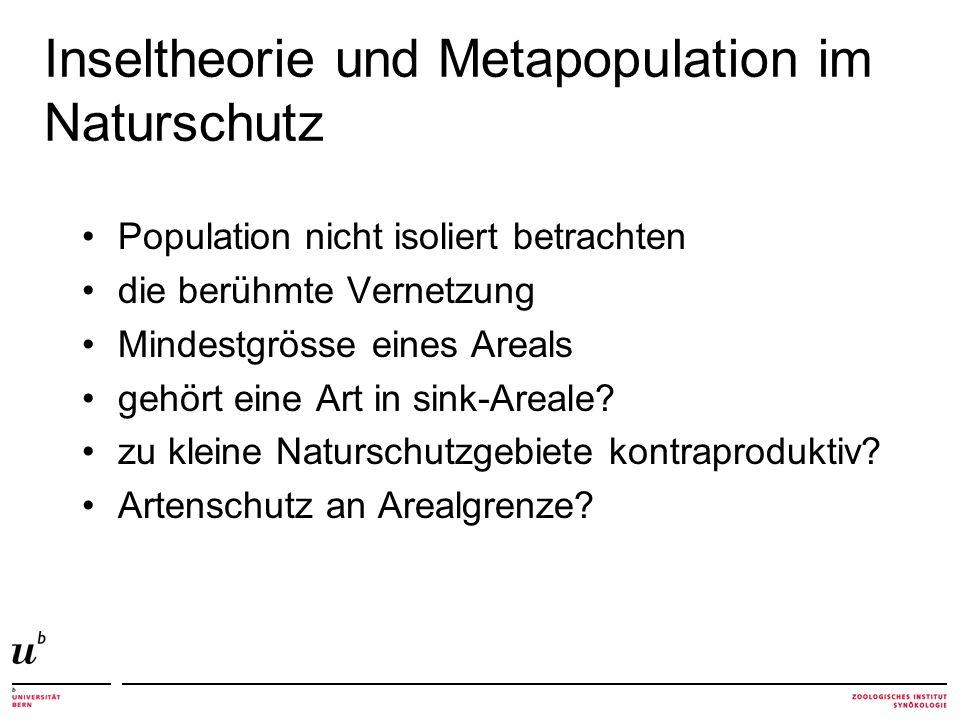 Inseltheorie und Metapopulation im Naturschutz
