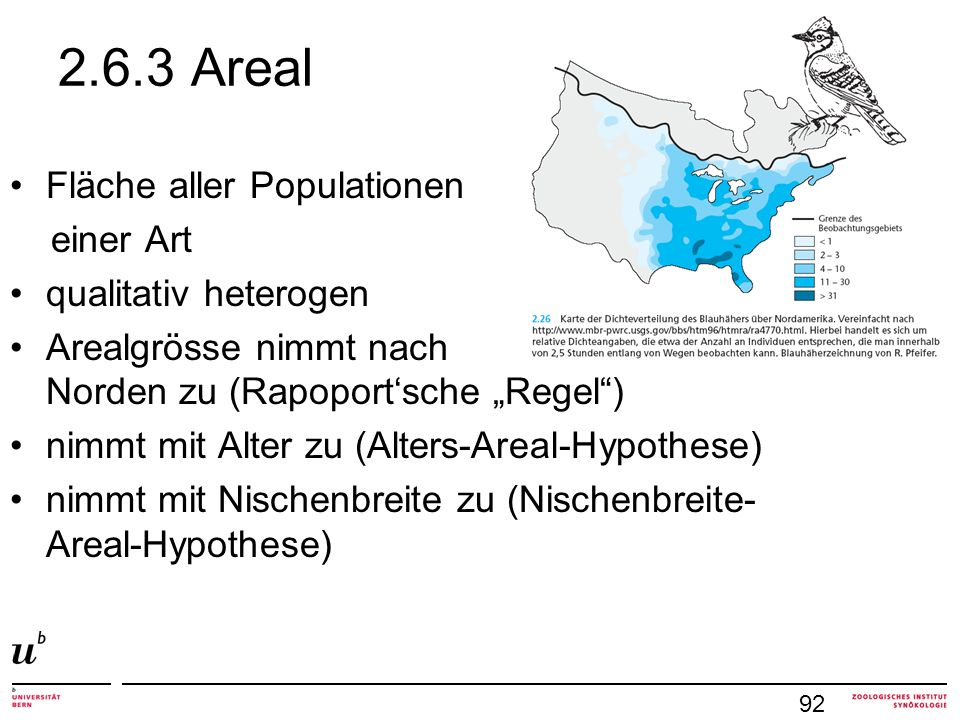 2.6.3 Areal Fläche aller Populationen einer Art qualitativ heterogen