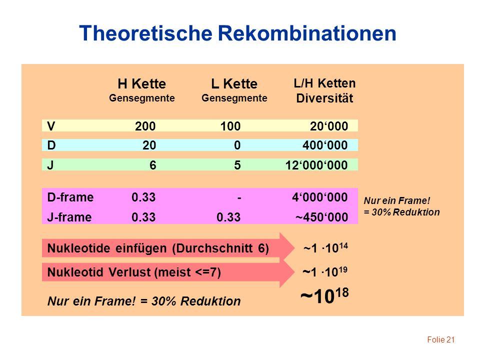 Theoretische Rekombinationen