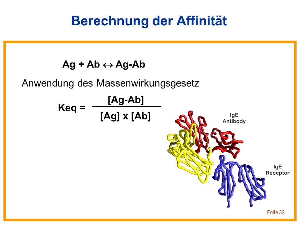 Berechnung der Affinität