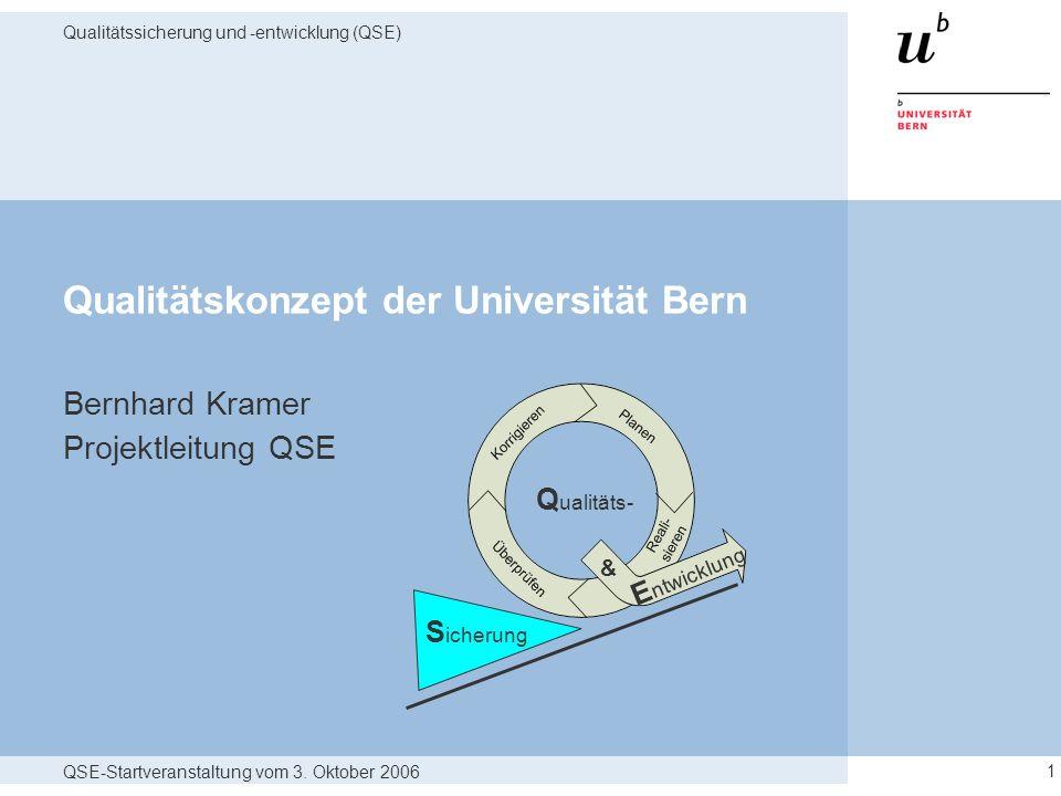 Qualitätskonzept der Universität Bern