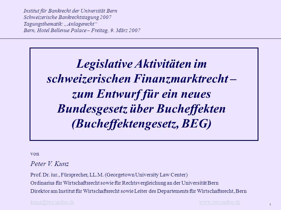 Institut für Bankrecht der Universität Bern