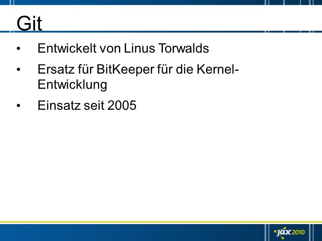 Git Entwickelt von Linus Torwalds