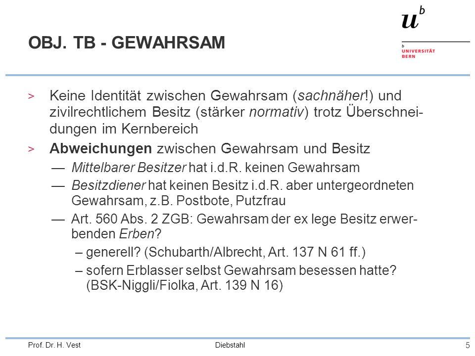 OBJ. TB - GEWAHRSAM