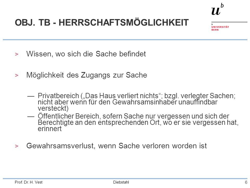 OBJ. TB - HERRSCHAFTSMÖGLICHKEIT