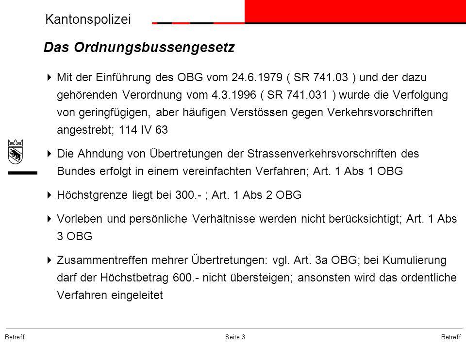 Das Ordnungsbussengesetz