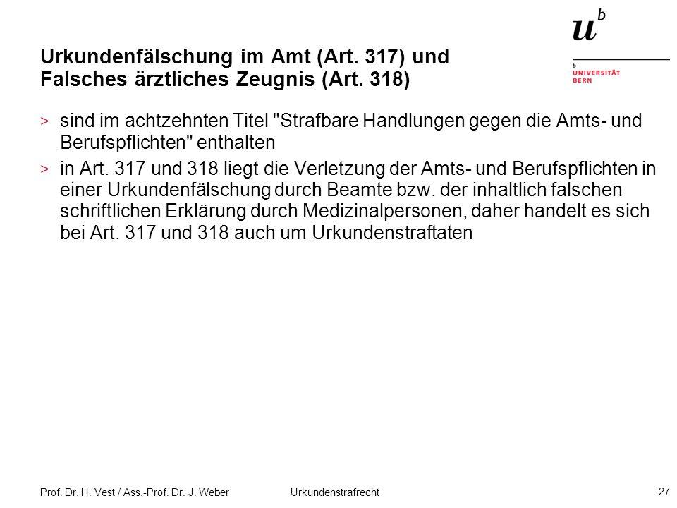Urkundenfälschung im Amt (Art