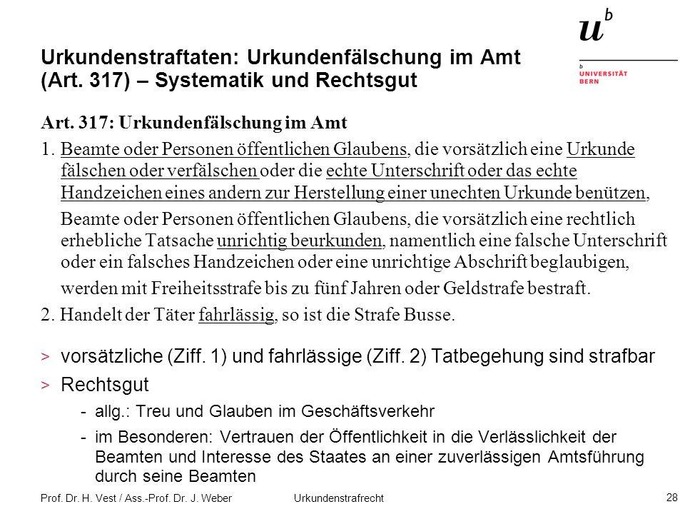 Urkundenstraftaten: Urkundenfälschung im Amt (Art
