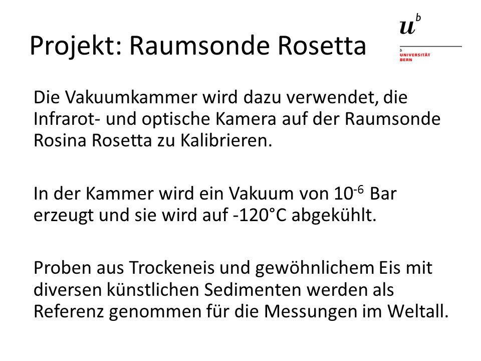 Projekt: Raumsonde Rosetta