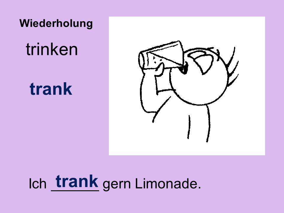 Ich ______ gern Limonade.