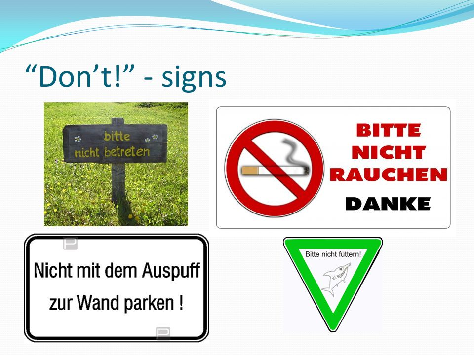 Don't! - signs