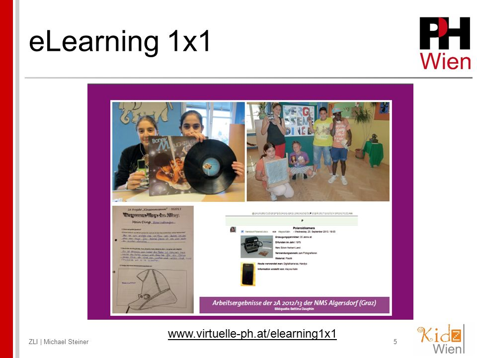 eLearning 1x1 www.virtuelle-ph.at/elearning1x1 ZLI | Michael Steiner
