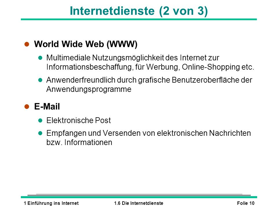 Internetdienste (2 von 3)