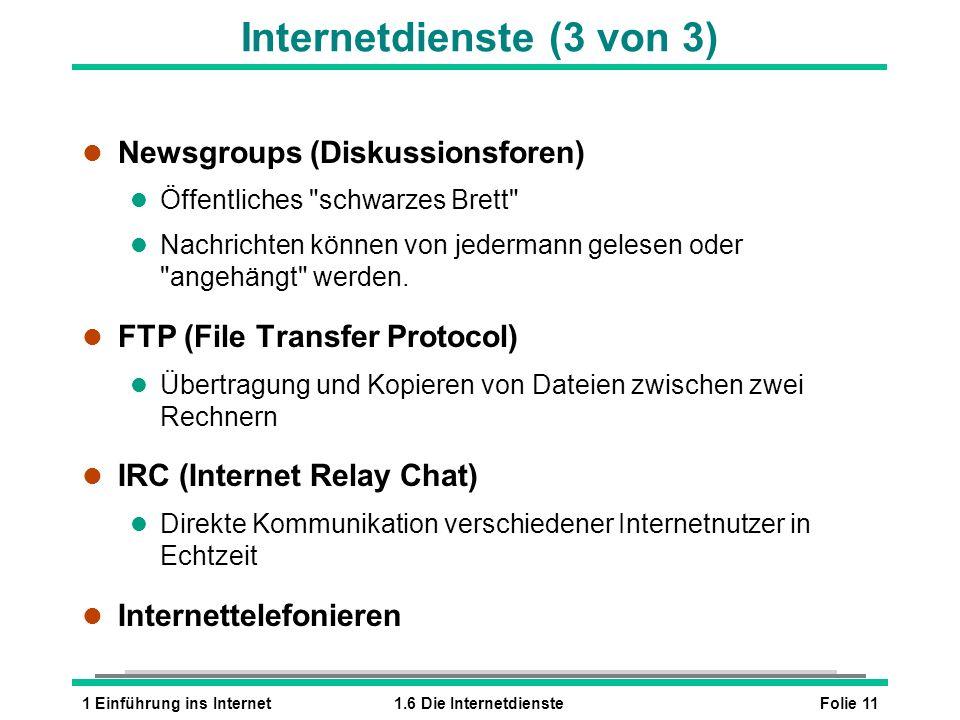 Internetdienste (3 von 3)