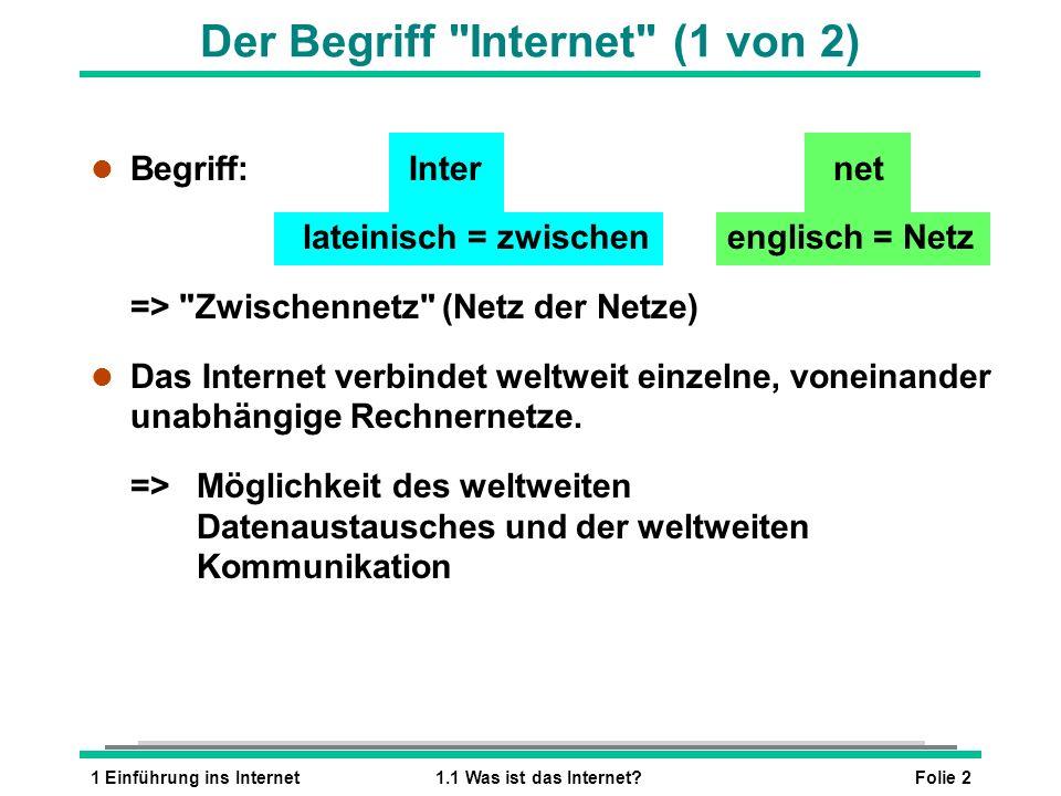 Der Begriff Internet (1 von 2)