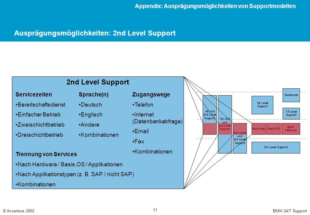 Ausprägungsmöglichkeiten: 3rd Level Support