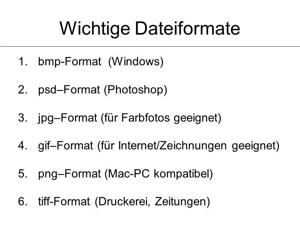 Wichtige Dateiformate