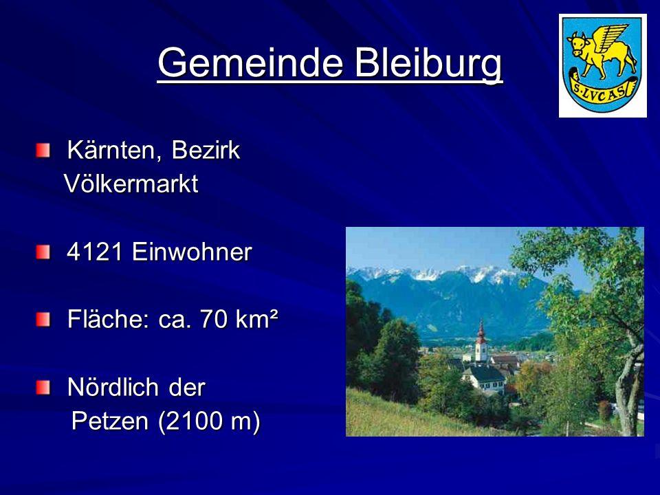 Gemeinde Bleiburg Kärnten, Bezirk Völkermarkt 4121 Einwohner