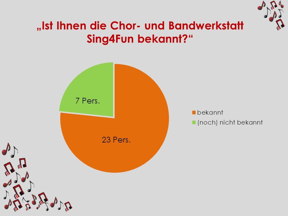 """""""Ist Ihnen die Chor- und Bandwerkstatt Sing4Fun bekannt"""