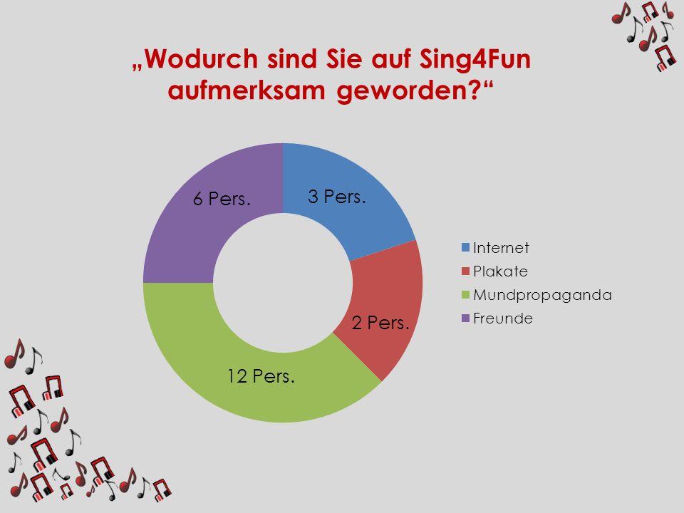 """""""Wodurch sind Sie auf Sing4Fun aufmerksam geworden"""