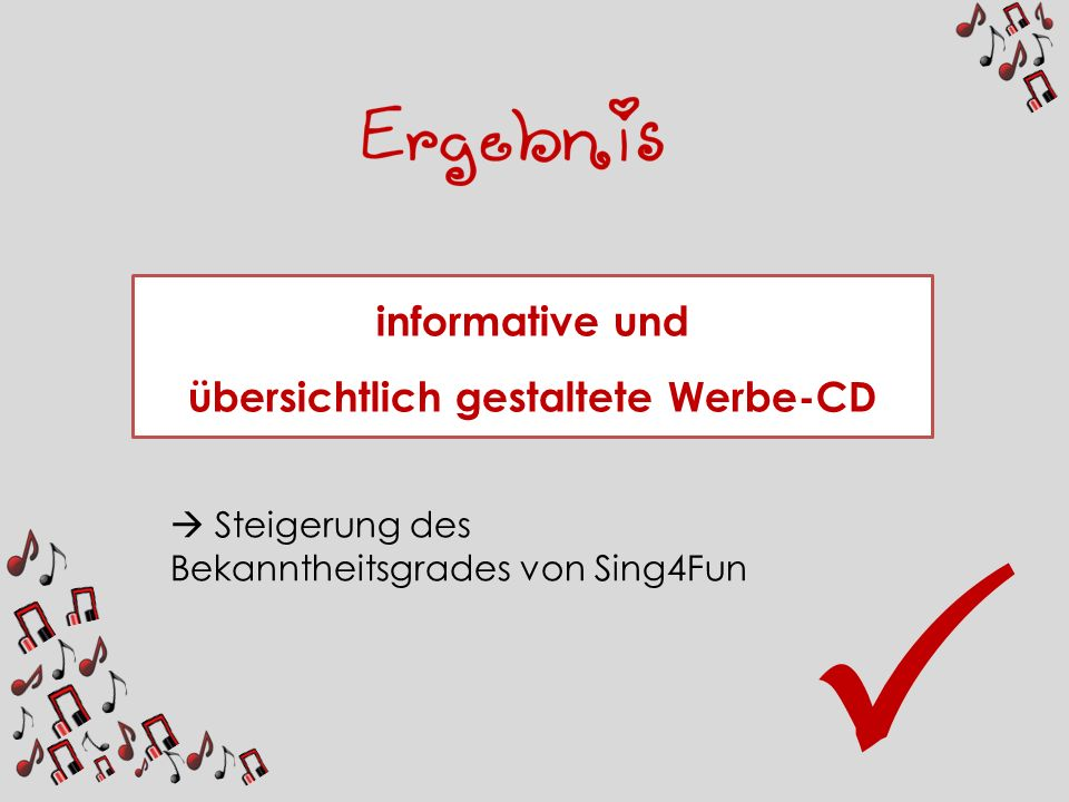 übersichtlich gestaltete Werbe-CD