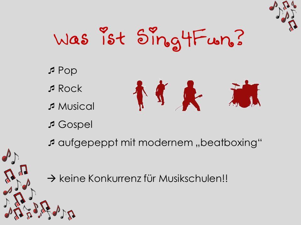 """Pop Rock Musical Gospel aufgepeppt mit modernem """"beatboxing  keine Konkurrenz für Musikschulen!!"""