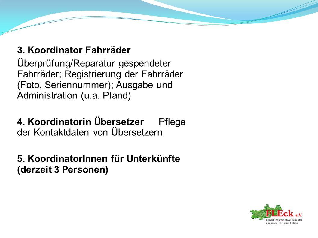 3. Koordinator Fahrräder