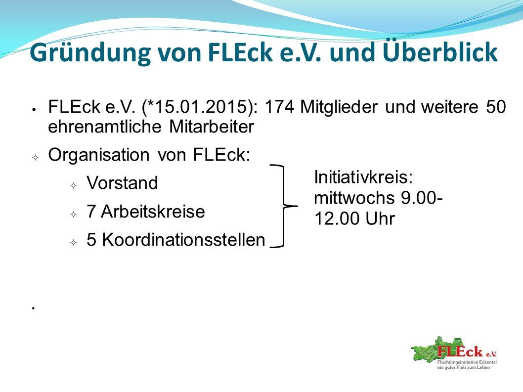 Gründung von FLEck e.V. und Überblick