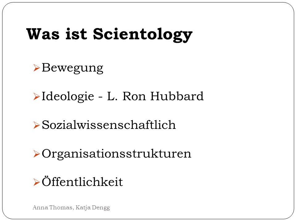 Was ist Scientology Bewegung Ideologie - L. Ron Hubbard