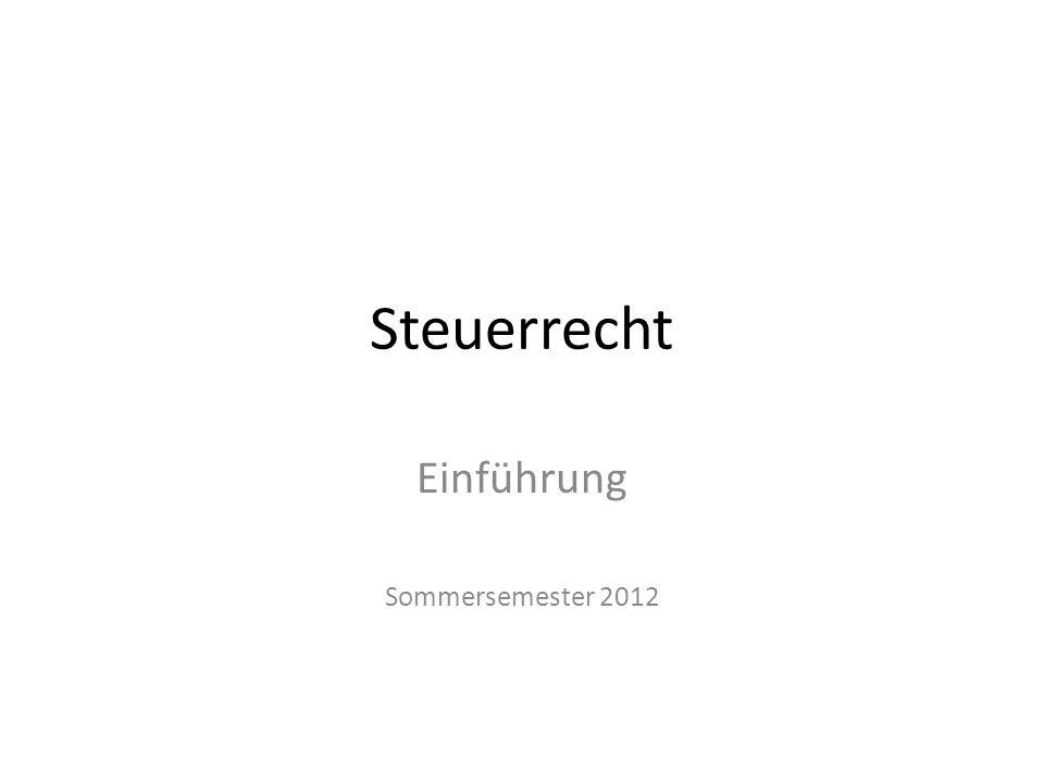 Einführung Sommersemester 2012
