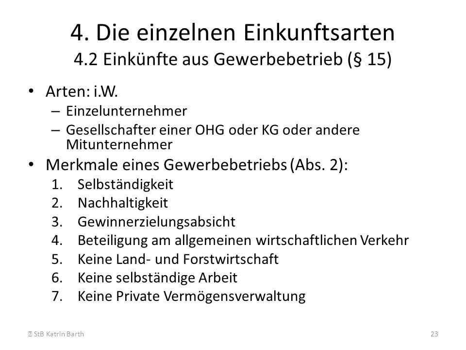 4. Die einzelnen Einkunftsarten 4