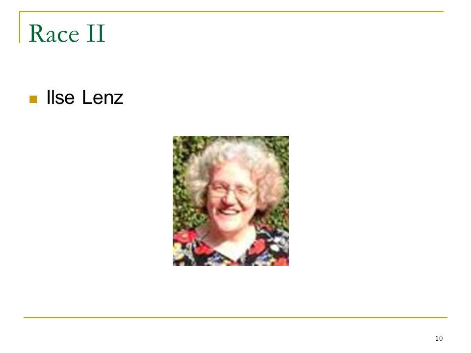 Race II Ilse Lenz