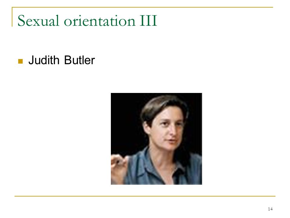 Sexual orientation III