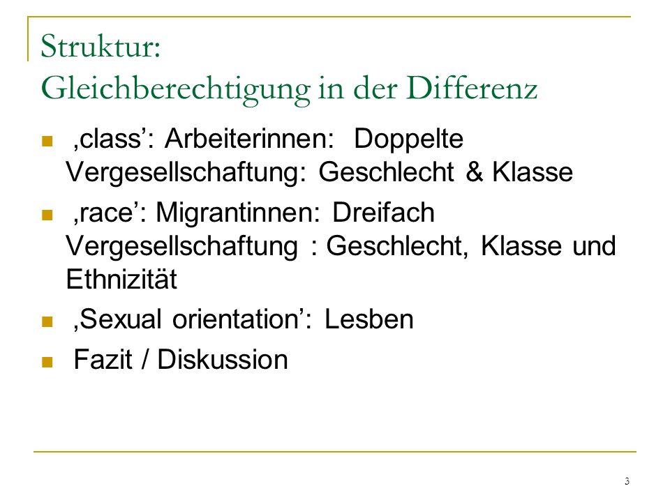 Struktur: Gleichberechtigung in der Differenz