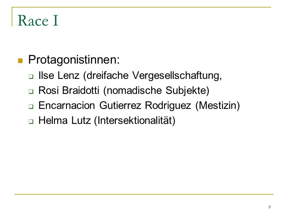 Race I Protagonistinnen: Ilse Lenz (dreifache Vergesellschaftung,