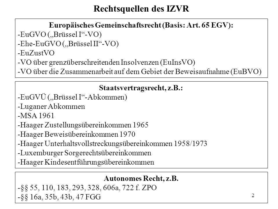 Rechtsquellen des IZVR